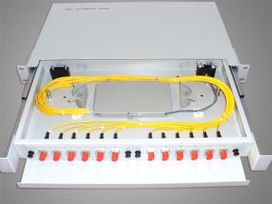 China FC / SC / ST / LC Fiber Optic Terminal Box ,sliding 19'' 1U rack mount enclosure supplier