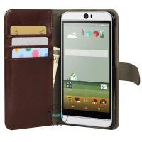 newest model pu leather cases for HTC Butterfly HTV3 wallet cases