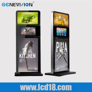 China Indoor 32 Inch Lcd Advertising Player Touch Screen Kiosk Digital Signage Totem Three Screen on sale