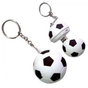 China Plastic 16gb Football Customized usb flash drive gifts with keychain on sale