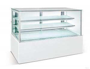 China Dessert Double Glass Door Fridge 1.2 meter , 540W Cake Display Freezer R134a on sale