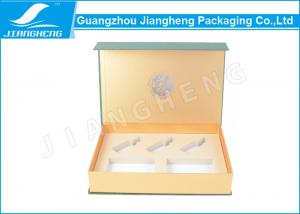 China Cardboard Eco Friendly Magnetic Closure Gift Boxes Green For Cosmetics Packaging on sale