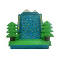 Green Tree Rock Climbing Wall Inflatable , Sports Games Bounce House With Climbing Wall
