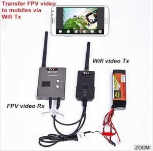 China Wireless wifi av Transmitter For FPV Cameras IPhone IPad Android Mobile Realtime Viewing Via APP on sale