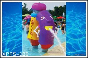 China Fiberglass, PVC Kids Recreation Waterpark Equipments, Pencil Spray Park Equipment on sale