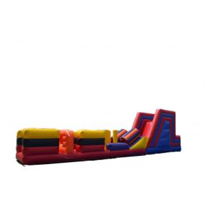China Waterproof Huge Inflatable Obstacle Course Jumpers For Adults Playing Games on sale