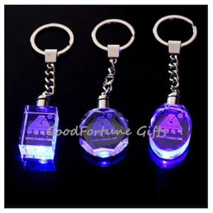 China promotion gift Crystal Colourful Keychain With Light on sale