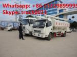 Aves domésticas de descarregamento hidráulicas do preço 6tons de China as melhores alimentam o caminhão para a venda, 5-7tons exploração-orientado e os rebanhos animais alimentam o caminhão