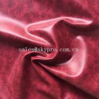 OEM PU Synthetic Leather Embossed Crazy Horse PVC Synthetic Leather for Shoes / Bags