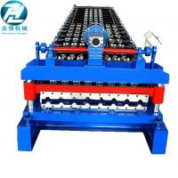 Iron Sheet Roof Trapezoidal Roll Forming Machine With Motor Cutting