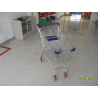 100 L Europe Style Supermarket Grocery Shopping Cart With Four Swivel Casters