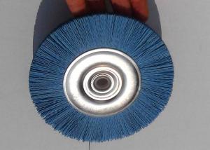 China Durable Abrasive Nylon Wheel Brush / Nylon Circular Brush With Blue Color on sale