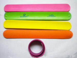 China Silicon slap wristbands on sale