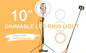 China Dimmable Lamp Selfie LED Ring Light Makeup Live Stream Youtube With Tripod Stand on sale