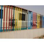 Pvc Coated Steel Palisade Fencing Pre Hot Dipped Galvanized Tube Material