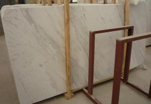 China Cheap Volakas White Marble Slab Tile on sale