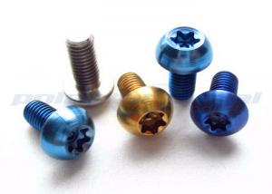 China OEM Anodized Titanium Torx Screws / Racing Bike Motorcycle Bolts Torx Security Screws on sale