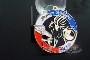 Quality Pegasus Marathon 5K 10k Mini Custom Metal Racing Medals Bespoke Design for sale