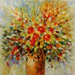 Palette Knife Flower Wall Art Painting on Canvas Thick Oil Floral Paintings for Room Decoration