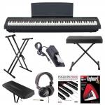 China Yamaha P-125B 88-Key Weighted Action (GHS) Digital Piano (Black) Bundle with Knox Double X Stand Knox Wide Bench Sustain wholesale