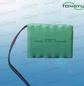 China 7.2V 1000mAh Nimh Rechargeable Battery AA size With Cables For Emergency Lights on sale
