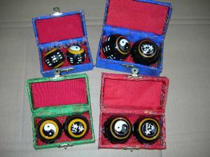 China Cloisonne chinese tai chi qi baoding balls on sale