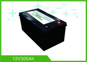 China Black Lithium RV Deep Cycle Battery 12V 300A Low Temperature Charging Long Lifespan on sale