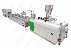 China 20 M Plastic PVC Profile Extrusion Line , 22 Kw High Speed Conical Twin Screw Extruder on sale