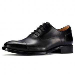 China Handmade genuine leather height increasing elevator dress shoes for men wedding party wear on sale