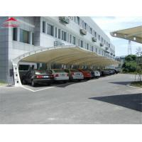 China Iron Material Tensile Membrane Canopy / Car Park Shade Structures on sale