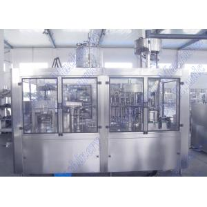China Bottled Orange Juice Filling Machine With 32 Hot Filling Heads And Screw Cap on sale