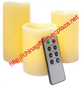 China Remote Control Wax Candle Set (3 pack) on sale