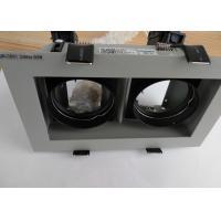 Double-head Max 2*50W Trim Silver/White IP20 Interior 0-30deg Tiltable MR16 LED Fixture Downlights