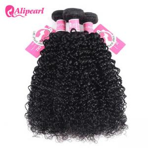 China Afro Kinky Curly Peruvian Hair Weave Bundles , Peruvian Curly Hair Bundles on sale