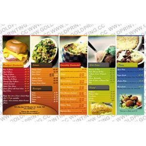 China Food Menus Books Printing | Cheap Menus Books Printing | Books Printing China on sale