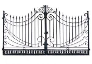 China Modern Stylish House Wrought Iron Main Gate Designs Customized Size on sale