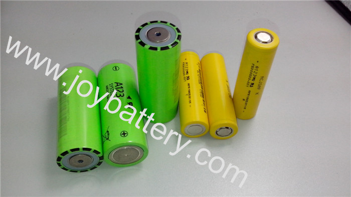 A123 18650 Battery APR18650M1 1100mAh(30A continuous discharge) A123 18650APR18650M1A cell