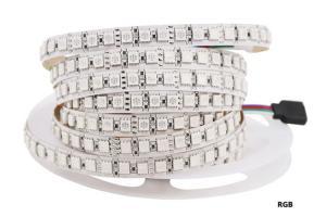 China 5 Meters High Lumen Ribbon 24 Volt Led Tape Light Waterproof SMD 5050 on sale