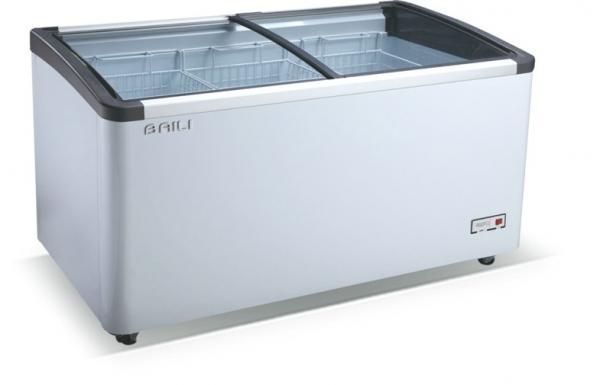 Top Glass Door Chest Commercial Refrigerator Freezer For Frozen Food