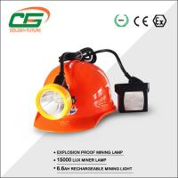 15000 Lux Led Miner Lamp 6.6Ah rechargeable battery With Low Power Indication