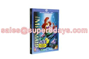 China Movie Disney Blue Ray DVD The Little Mermaid Diamond Edition Classic Disney Cartoon Movies Blu-ray DVD Wholesale on sale