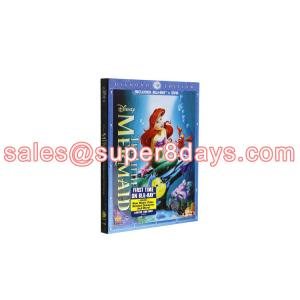 China Movie Disney Blue Ray DVD The Little Mermaid Diamond Edition Classic Disney Cartoon Movies Blu-ray DVD Wholesale on sale