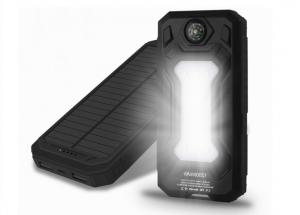 China 30000mAh Solar Powered USB Charger / Waterproof Power Bank Safe And Reliable on sale