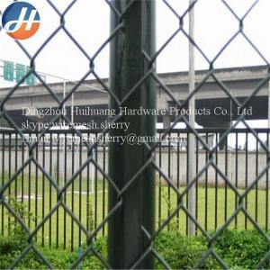China 50mm * 50mm Galvanized Chain Link Wire Mesh For Waterway / Playground on sale