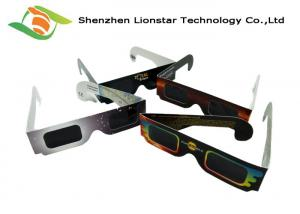 China Colorful Printing Paper Passive 3D Glasses Solar Eclipse Glasses Custom Brand Logo on sale
