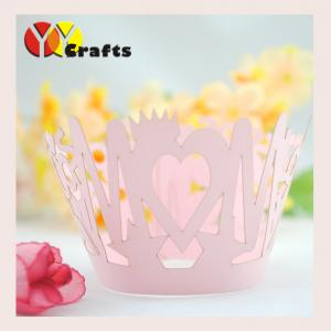 China Unique handmade Laser Cut Cupcake Wrappers , custom cupcake cases on sale