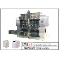 China Pesticide Liquid Weighing Filling Machine 10-16 B / MIN To Fill 5 - 25L Drums And Jerrycans on sale