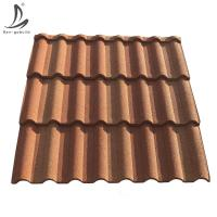 Decras Roof Kenya high quality stone coated metal roofing sheets, red Milano roof tile price