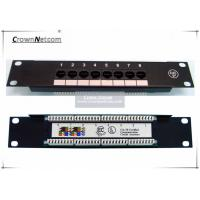 "Network 10"" 8PORTS CAT.5e PATCH PANEL 1U SOHO mini patch panel 8port - 10 inch Rack Mount"