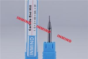 China 0.1mm - 0.9mm Carbide Micro End Mill with TiSiN Coating High Hardness on sale